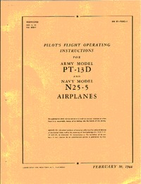 AN 01-70AC-1 Pilot's Flight operating instructions for PT-13D and N2S-5