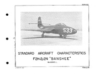 3687 F2H-2 and -2N Banshee Standard Aircraft Characteristics - 1 November 1949