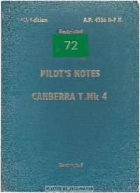 A.P. 101B-0404-15 Canberra T Mk4 Pilot's Notes