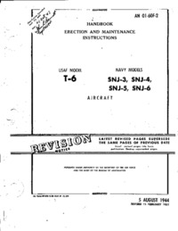 AN 01-60F-2 Handbook Erection and Maintenance Instructions USAF Model T-6 Navy models SNJ-3