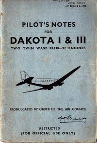 A.P. 2445A & C - PN - Pilot's notes for Dakota I & III
