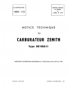 NBN-101 Notice Technique du carburateur injecteur Zenith type 80 RGS II