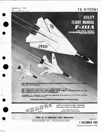 T.O. 1F-111(Y)A-1 Utility Flight Manual F-111A