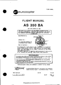 Flight Manual AS 350 BA Ecureuil