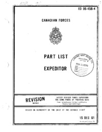 EO 05-45B-4 RCAF Part List Expeditor