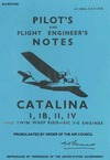 A.P. 2036A, B & D Pilot's and flight engineer's Notes Catalina I, IB, II, IV