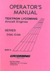 Operator's Manual - Textron Lycoming Aircraft Engines - Series 0-540; IO540