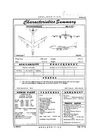 2747 RB-47E Stratojet Characteristics Summary - 12 April 1961