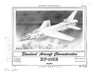 RF-105B Thunderchief Standard Aircraft Characteristics - 23 April 1956