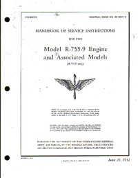 T.O. 02-30AC-2 - Handbook of service Instructions for Model R-755-9 Engine