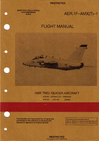 AER.1F-AMX(T)-1 Flight Manual AMX Two-Seater Aircraft