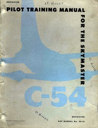 AAF Manual No 50-14 Pilot Training Manual for the C-54 Skymaster