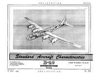 B-29 Superfortress Standard Aircraft Characteristics - 19 April 1950