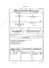 B-17G Flying Fortress Characteristics Summary - 17 May 1950
