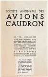 Prices list Avions Caudron March 1935