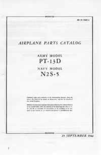 AN 01-70AC-4 Airplane Parts Catalog - Army Model PT-13D - Navy model N2S-5