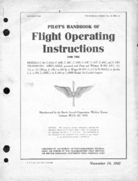 TO 01-90CA-1 Pilot's Handbook of Flight Operating Instructions for the C-43
