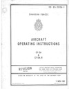 E0 05-205A-1 Canadian Force Aircraft Operating Instructions CF-5A & CF-5A/R