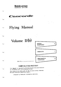 Concorde Flight Manual volume 2b