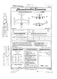 F-89H Scorpion Characteristics Summary - 7 October 1957