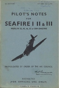 A.P. 2280 A B & C Pilot's Notes for Seafire I - II - III