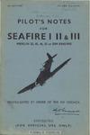 A.P. 2280 A B & C Pilot's Notes for Seafire I - II - III