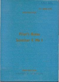 A.P. 4646A Pilot's Notes Scimitar F.Mk I