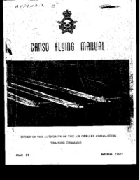 RCAF Canso Flying Manual