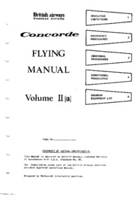 Concorde Flight Manual volume 2a