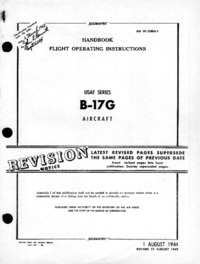 AN 01-20EG-1 Handbook Flight Operating Instructions B-17G