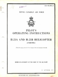 EO 05-80A-1 Pilot's Operating Instructions H-21A and H-21B Helicopter