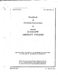AN 02A-35JJ-3 Handbook of Overhaul Instructions for Model R-3350-30W Aircraft Engines