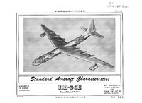 RB-36E Peacemaker Standard Aircraft Characteristics - 14 May 1954