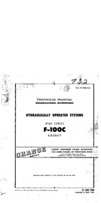 T.O. 1F100C-2-4 Technical Manual Hydraulically Operated Systems F-100C