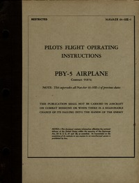 NAVAER 01-5SE-1 Pilot's Flight operating instructions PBY-5 Airplane
