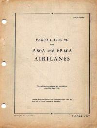 AN 01-75FJA4 - Parts Catalog for P-80A and FP-80A Airplanes