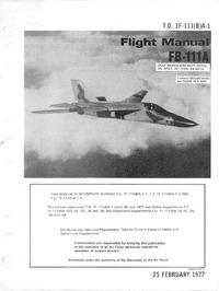 T.O. 1F-111(B)A-1 Flight Manual FB-11A