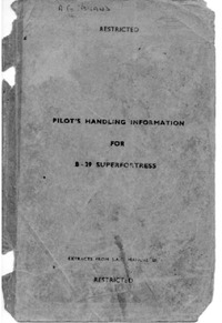 Pilot's handling information for B-29 Superfortress
