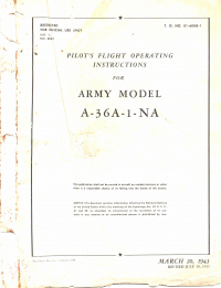T.O. 01-60HB-1 Pilot's Flight Operating Instructions for Army Model A-36A-1-NA