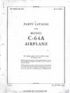 AN 01-155CB-4 Parts Catalog for Model C-64A Airplane