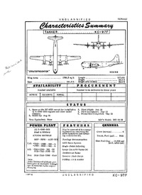 2835 KC-97F Stratofreighter Characteristics Summary - 4 September 1956 (Yip)