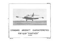 F9F-5 and -5P Panther Standard Aircraft Characteristics - 1 June 1952