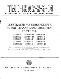 TM1-1HA2-2-3-14 Illustrated Parts Breakdown Rotor Transmission Assembly Part