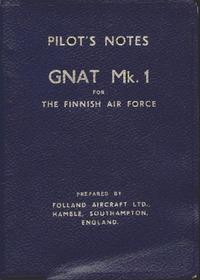 Pilot's Notes Gnat Mk.1