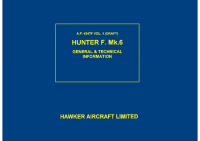A.P. 4347F vol1 - Draft Hunter F. Mk.6 General & technical information