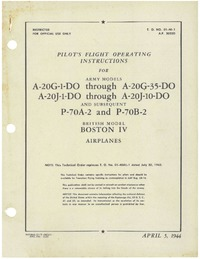 T.O. 01-4-1 Pilot's flight operating instructions for A-20G and A-20J