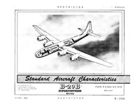 B-29B Superfortress Standard Aircraft Characteristics - 19 April 1950