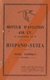 Moteur d'aviation 450cv 12W Hispano Suiza - Notice technique provisoire