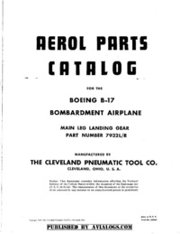 Aerol Parts Catalog for the Boeing B-17 - Main Leg Landing Gear