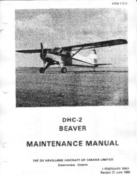 PSM 1-2-2 DHC-2 Beaver Maintenance Manual